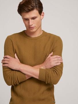 strukturierter Pullover mit Bio-Baumwolle - 5 - TOM TAILOR Denim