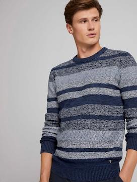 gestreifter Pullover aus Bio-Baumwolle - 5 - TOM TAILOR Denim