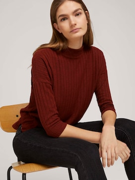 Pullover with a ribbed texture - 5 - TOM TAILOR Denim