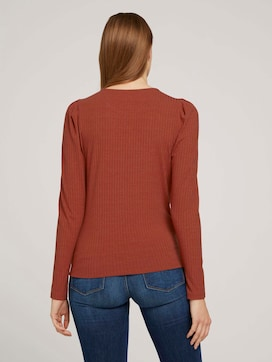 long-sleeved shirt with puffed sleeves - 2 - TOM TAILOR Denim