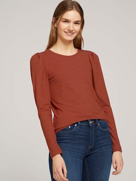 long-sleeved shirt with puffed sleeves - 5 - TOM TAILOR Denim