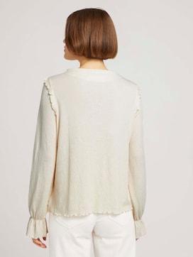 shirt met lange mouwen en volants - 2 - TOM TAILOR Denim