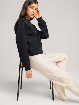 sweatshirt met schouderplooi - 5 - TOM TAILOR Denim