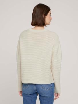 strukturierter Pullover mit Bio-Baumwolle - 2 - TOM TAILOR Denim