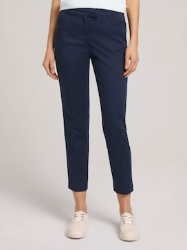 Mia slim trousers with pleats - 1 - TOM TAILOR
