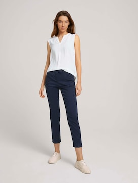 Mia slim trousers with pleats - 3 - TOM TAILOR