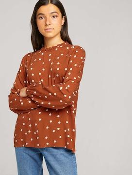 long-sleeved shirt with ruffles - 5 - TOM TAILOR Denim