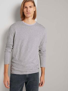 long-sleeved shirt in a melange look - 5 - TOM TAILOR Denim