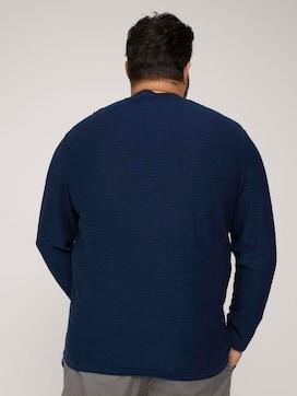 Sweatshirt in Melange Optik - 2 - Men Plus