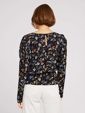 Blouse with balloon shoulders - 2 - TOM TAILOR Denim