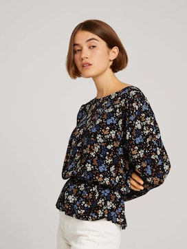 Blouse with balloon shoulders - 5 - TOM TAILOR Denim