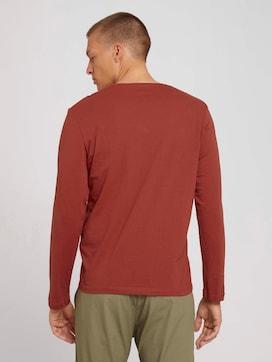 Basic shirt met lange mouwen van biologisch katoen - 2 - TOM TAILOR
