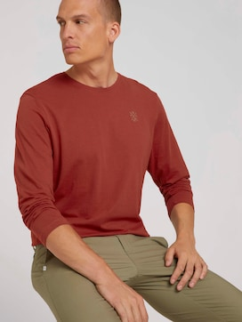 Basic shirt met lange mouwen van biologisch katoen - 5 - TOM TAILOR