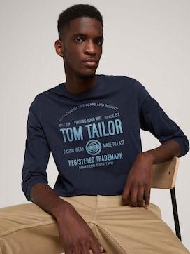Langarmshirt mit Print aus Bio-Baumwolle - 5 - TOM TAILOR