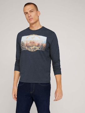 Long-sleeved shirt with organic cotton - 5 - TOM TAILOR