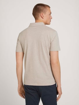Polo shirt in a melange look - 2 - TOM TAILOR