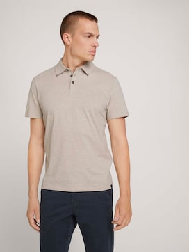 Polo shirt in a melange look - 5 - TOM TAILOR