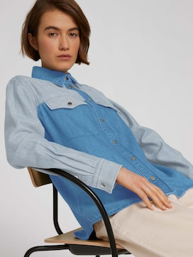 Jeansbluse aus Bio-Baumwolle - 5 - TOM TAILOR Denim