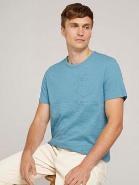 gestreept T-shirt met borstzak - 5 - TOM TAILOR