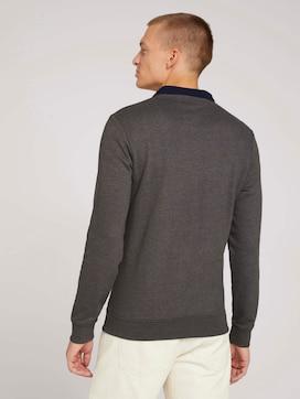 Sweatshirt mit Troyer-Kragen - 2 - TOM TAILOR