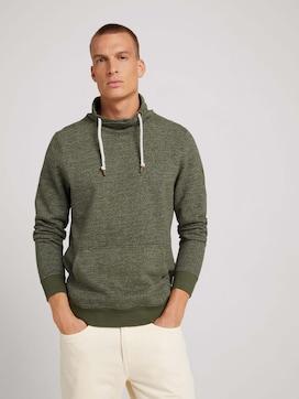 Sweatshirt mit Wickelkragen - 5 - TOM TAILOR