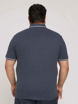 Poloshirt met textuur - 2 - Men Plus