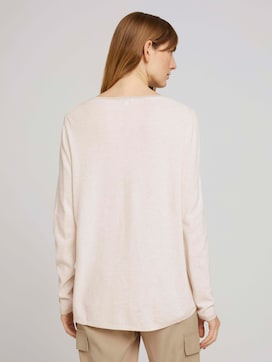 Knitted sweater with glitter details - 2 - TOM TAILOR