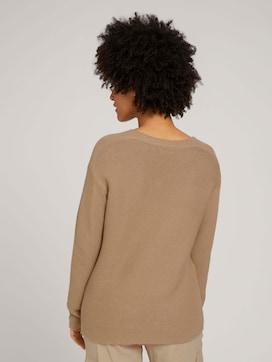 V-Ausschnitt Pullover mit Bio-Baumwolle - 2 - TOM TAILOR