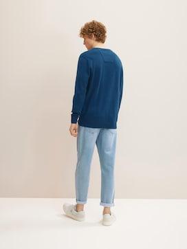 Melierter Pullover mit V-Ausschnitt - 2 - TOM TAILOR