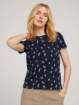 T-Shirt mit Blumenmuster aus Bio-Baumwolle - 5 - TOM TAILOR