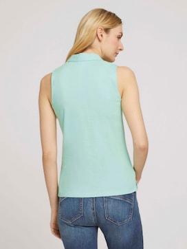 Ärmelloses Poloshirt mit Bio-Baumwolle - 2 - TOM TAILOR