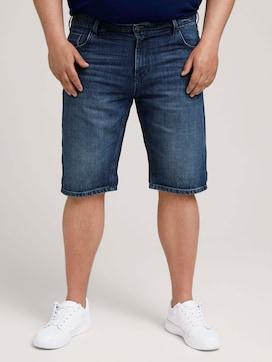 Denim Slim Shorts - 1 - Men Plus