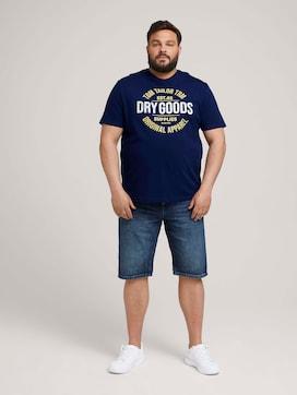 Denim Slim Shorts - 3 - Men Plus