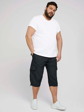 Slim Cargo Bermuda Shorts - 3 - Men Plus
