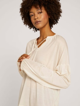 Blouse met ruches en lyocell - 5 - Mine to five