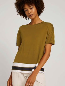T-Shirt mit Lyocell - 5 - Mine to five