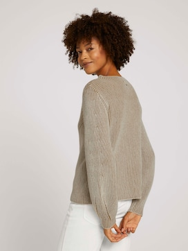 gerippter Pullover - 2 - Mine to five