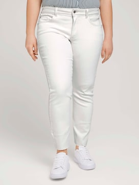 Slim Fit Jeans mit Fransen - 1 - My True Me