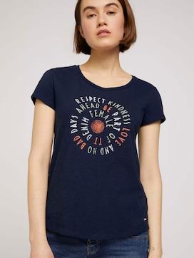 T-Shirt mit Schriftprint - 5 - TOM TAILOR Denim