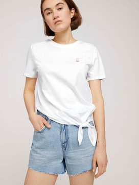 Loose-fit t-shirt with knotted details - 5 - TOM TAILOR Denim