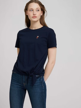 Loose Fit T-shirt met knoopdetail - 5 - TOM TAILOR Denim