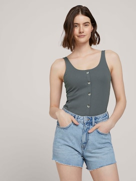 Ripp Top mit Knopfleiste - 5 - TOM TAILOR Denim