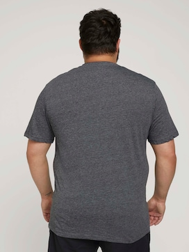 Henley T-Shirt in Melange Optik - 2 - Men Plus