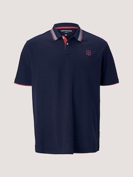 Poloshirt mit Schriftzug am Kragen - 7 - Men Plus