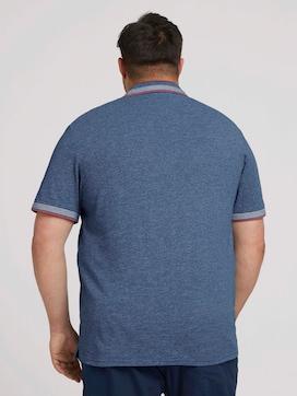 Poloshirt met belettering op kraag - 2 - Men Plus