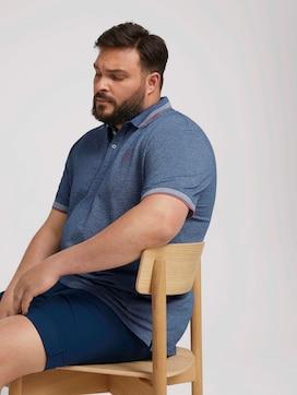 Poloshirt met belettering op kraag - 5 - Men Plus