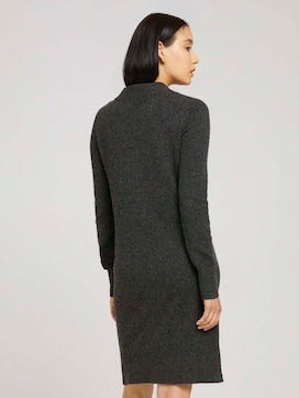 Knitted dress with a stand-up collar - 2 - TOM TAILOR
