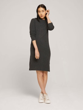 Knitted dress with a stand-up collar - 5 - TOM TAILOR