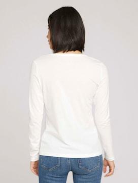 Shirt met lange mouwen met print van biologisch katoen - 2 - TOM TAILOR