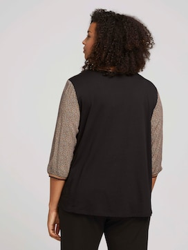Patterned 3/4-sleeved shirt with organic cotton - 2 - My True Me